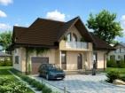 Проект просторного дома с мансардой
